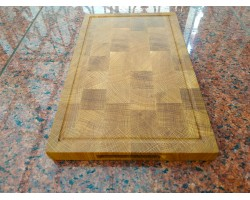 Cutting board end oak 40 * 25 * 3 cm
