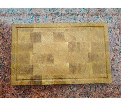 Доска кухонная разделочная торцевая натуральный дуб 40*25*3 см