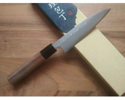 HONMAMON Damascus steel, Aogami # 2 knife (Paring) 120 mm