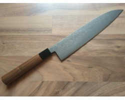 HONMAMON Дамасская сталь, Aogami # 2 нож (Gyuto) 240 мм
