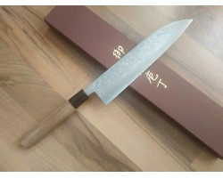HONMAMON Дамасская сталь, Aogami # 2 нож (Gyuto) 210 мм
