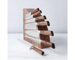 Stand for knives magnetic wood