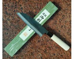 Tomita Double beveled Santoku нож  Super Blue Steel 175mm