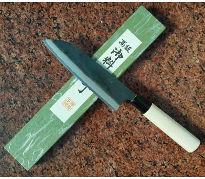 Японский кухонный нож Tomita Santoku - Aogami Super Blue Steel 175mm