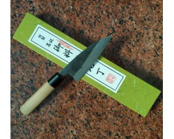 Tomita Double beveled Deba нож Super Blue Steel 105 mm