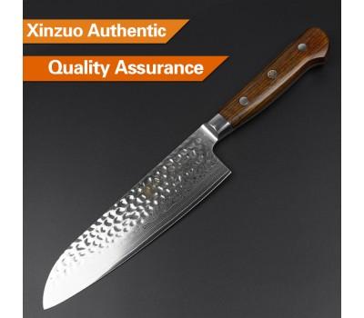 Xinzuo Yun Damascus Santoku knife 180mm