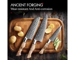Set of kitchen knives HEZHEN MS 3 pieces