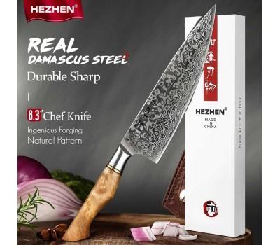 HEZHEN Master series Damascus Gyuto, шеф нож, 210мм