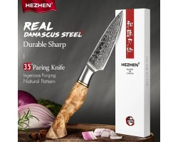 HEZHEN MS Damascus Paring, vegetable knife, 93mm