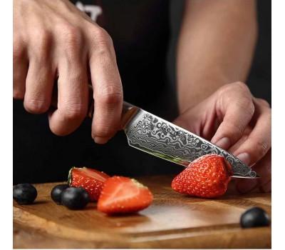 HEZHEN Master series Damascus Paring, овощной нож, 93мм