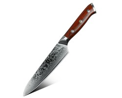 Xinzuo Yu Damascus универсальный нож 130мм