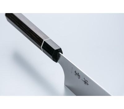 ZUIUN 9303 - Поварской нож из дамасской стали с клинком 180 мм. Kanetsugu, Япония