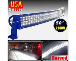 "Chandelier LED 50 ""288W Blue CREE Curved Bar"