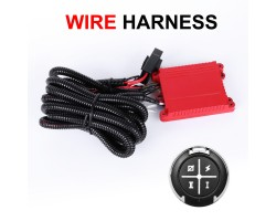 Remote Control Wiring Harness Kit Fuse Keychain For Dual Colors LED Light Bar