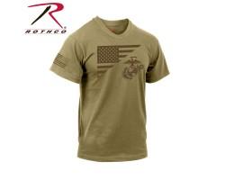 Футболка Rothco US Flag / USMC Eagle Coyote