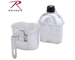 Aluminum Flask with Rothco G.I. Style