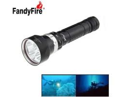 Flashlight for diving Fandyfire XM-L2 U2 3-mode