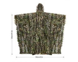 Cape - Poncho Forest Camo 3D