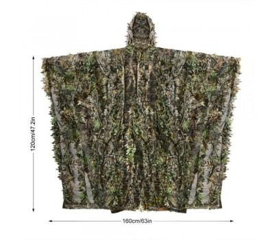 Накидка - пончо Лесной камуфляж 3D