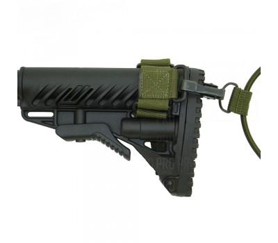 Приклад складной FAB M4 с амортизатором для AK 47, полимер, черный